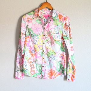 Lilly Pulitzer Target Floral Button Down Top XS